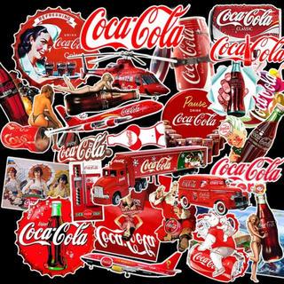 コカコーラ(コカ・コーラ)のコカ・コーラ 防水ステッカー シール 26枚セット(ステッカー)