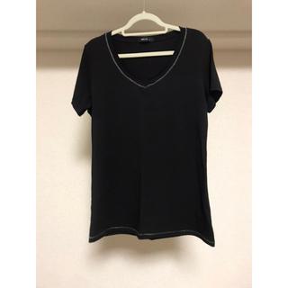 コムサイズム(COMME CA ISM)の【コムサイズム】新品未使用 Tシャツ Vネック シンプル 黒(Tシャツ(半袖/袖なし))
