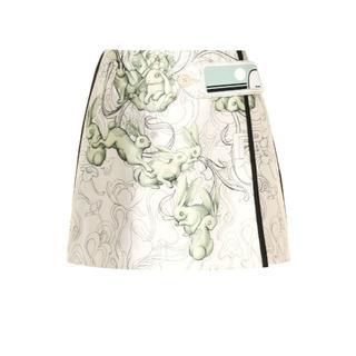 プラダ(PRADA)の定価23万円以上<新品未使用>PRADA シルクブレンド ミニ スカート (ミニスカート)