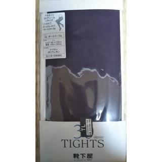 クツシタヤ(靴下屋)のダークパープル タイツ 30デニール Lサイズ(タイツ/ストッキング)