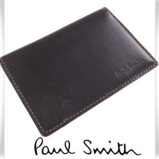 ポールスミス(Paul Smith)の【セール!】新品未使用 ポールスミス 名刺・定期入れ 革 ブラック 男女兼用(名刺入れ/定期入れ)