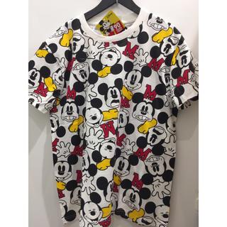 ディズニー(Disney)の新品 ミッキー ポップ 総柄 カラフル メンズ  Tシャツ 男女兼用 ディズニー(Tシャツ/カットソー(半袖/袖なし))