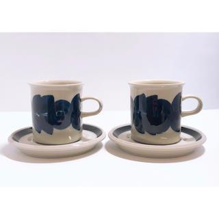 アラビア(ARABIA)のARABIA  Anemone コーヒーカップ&ソーサー 2客セット(グラス/カップ)