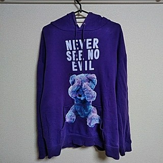 ミルクボーイ(MILKBOY)のミルクボーイ クマ パーカー 紫(パーカー)
