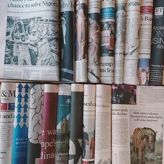 24. 平日版フィナンシャル・タイムズレアな英字新聞カラフル写真(印刷物)