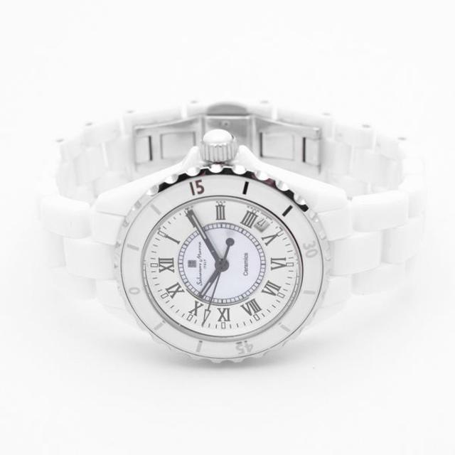 Salvatore Marra(サルバトーレマーラ)のサルバトーレマーラ 腕時計 メンズ ホワイト セラミック ブランド メンズの時計(腕時計(アナログ))の商品写真