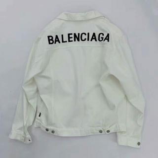 バレンシアガ(Balenciaga)の【アキヒロ様専用】BALENCIAGA jacket ロゴデニムジャケット 48(Gジャン/デニムジャケット)