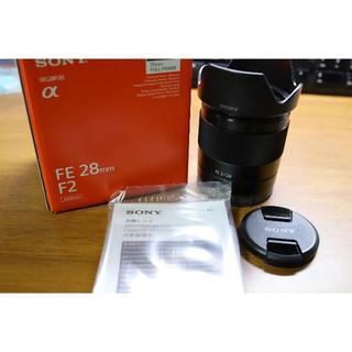 ソニー(SONY)の【美品】FE 28mm F2 SEL28F20(レンズ(単焦点))