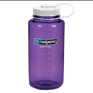 ナルゲン(Nalgene)の新品ナルゲン☘1リットル広口ボトル 紫(登山用品)