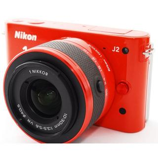ニコン(Nikon)の❤️スマホに送れる❤️レア可愛いオレンジ❤️ニコン1 J2 レンズキット(ミラーレス一眼)