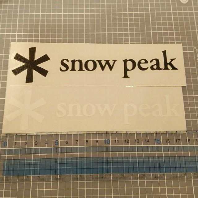 Snow Peak(スノーピーク)のスノーピーク ステッカー 黒 1枚 自動車/バイクのバイク(ステッカー)の商品写真