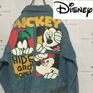 ディズニー(Disney)の希少 インポート Disney ディズニー グーフィー デニムジャケット(Gジャン/デニムジャケット)