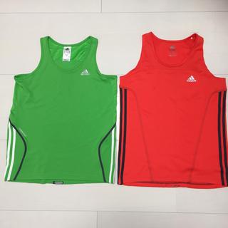 アディダス(adidas)のadidas ランニングシャツ Lサイズ 2枚セット ランシャツ(ウェア)