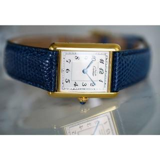 カルティエ(Cartier)の美品 カルティエ マスト タンク アラビア LM Cartier(腕時計(アナログ))