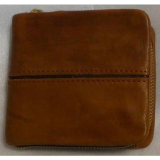バギーポート(BAGGY PORT)のBAGGY PORT 本革 フルクローム(牛革) ツートン ラウンドファスナー (折り財布)