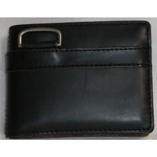 バギーポート(BAGGY PORT)のBAGGY PORT 本革 オイルレザー クロムエクセル 二つ折り ブラック(折り財布)