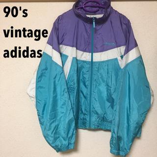 アディダス(adidas)の【90's】アディダス パステルカラー ナイロンJK(ナイロンジャケット)