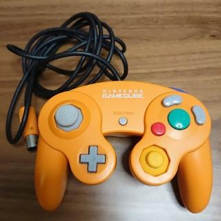 ニンテンドーゲームキューブ(ニンテンドーゲームキューブ)のゲームキューブコントローラ オレンジ(その他)