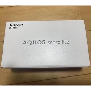 シャープ(SHARP)のシャープ SIMフリースマホ SH-M05 ホワイト(スマートフォン本体)
