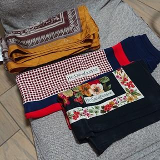 サンローラン(Saint Laurent)の値下 ブランド スカーフ 3点セット Dior イヴ・サンローラン ディオール (バンダナ/スカーフ)