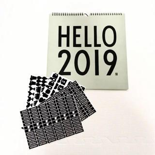 アクタス(ACTUS)の新品 デザインレターズ design lettes 2019 カレンダー(カレンダー/スケジュール)