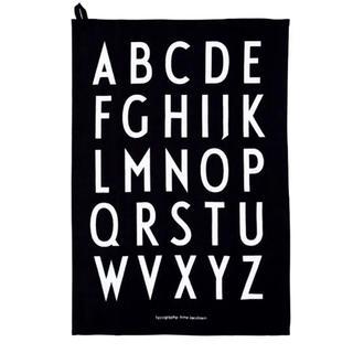アクタス(ACTUS)の新品 デザインレターズ design lettes ティータオル 黒(収納/キッチン雑貨)