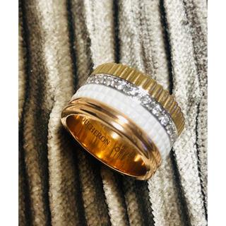 ブシュロン(BOUCHERON)のブシュロン  キャトル クラシックリング ラージ ホワイト サイズ51 極美品(リング(指輪))