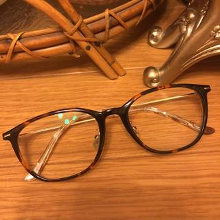 ゾフ(Zoff)のゾフzoff ウェリントン メガネ フレーム 度なし伊達眼鏡 べっ甲 クラシカル(サングラス/メガネ)