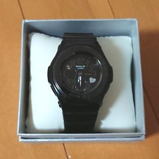 ベビージー(Baby-G)のBaby-G 腕時計 BGA-102 黒 ブラック ラメ ハート(腕時計)