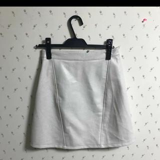 ザラ(ZARA)のZARA フェイクレザー スカート(ひざ丈スカート)