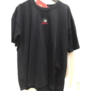 ディズニー(Disney)の新品 ミッキー レディース Tシャツ 刺繍 ディズニー disney (Tシャツ(半袖/袖なし))