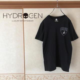 ハイドロゲン(HYDROGEN)の【美品】HYDROGEN×ランボルギーニ コラボTシャツ 半袖 ブラック L(Tシャツ/カットソー(半袖/袖なし))