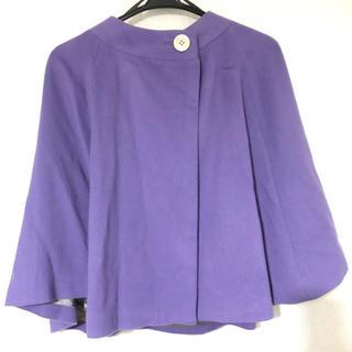 デプレ(DES PRES)のカシミア ケープ (薄い紫・藤色)  着物用コート 上着 羽織り(ポンチョ)
