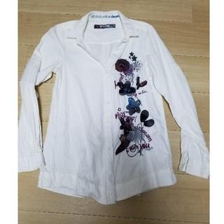 デシグアル(DESIGUAL)のDesigual♡白シャツ(シャツ/ブラウス(長袖/七分))