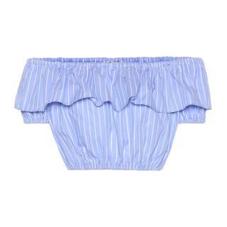 ミュウミュウ(miumiu)の定価6万円以上<新品>MIU MIU ストライプ コットン クロック トップ(Tシャツ(半袖/袖なし))