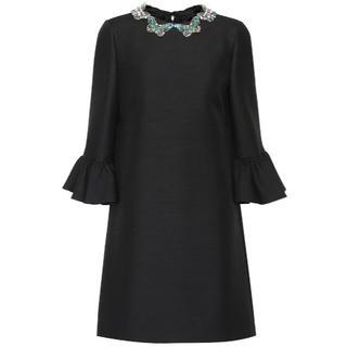 ヴァレンティノ(VALENTINO)の定価40万円以上<新品未使用>VALENTINO ウール シルク ミニ ドレス(ミニワンピース)