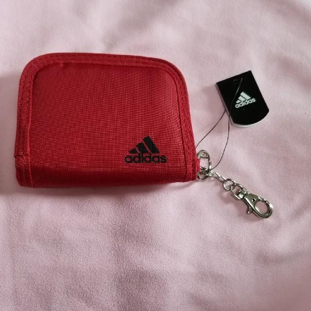 adidas(アディダス)のadidas 折り畳み財布 赤 キッズ/ベビー/マタニティのこども用ファッション小物(財布)の商品写真
