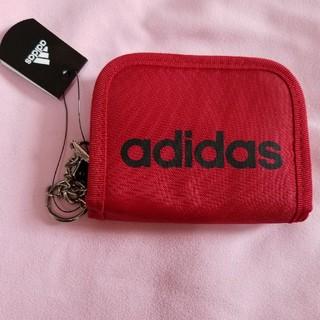 アディダス(adidas)のadidas 折り畳み財布 赤(財布)