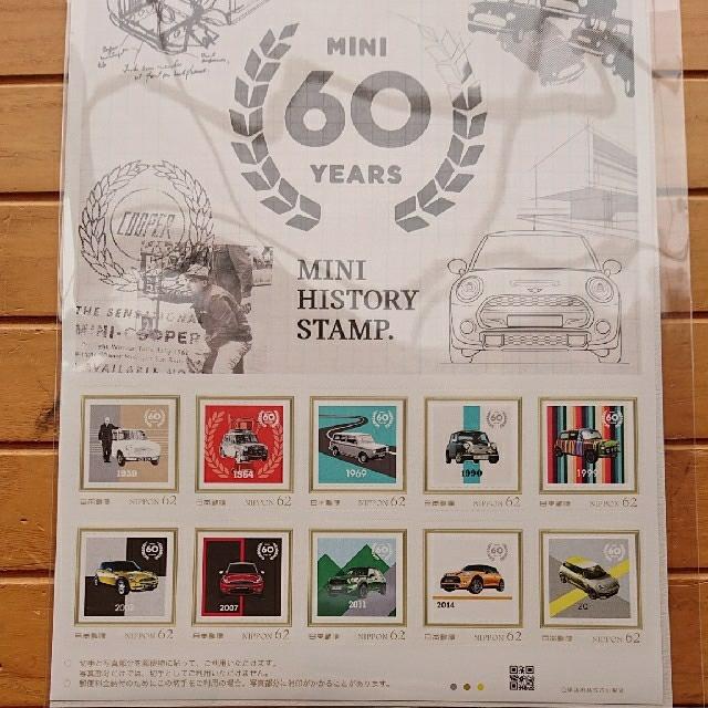 MINI ミニ  60years 記念切手 非売品 自動車/バイクの自動車(車外アクセサリ)の商品写真