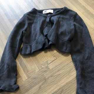 エイチアンドエム(H&M)のエイチアンドエム 黒のカーディガン サイズ92センチ(カーディガン)