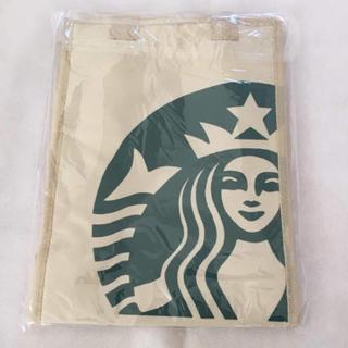 スターバックスコーヒー(Starbucks Coffee)のスターバックス 保冷バッグ ホワイト(弁当用品)