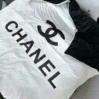 シャネル(CHANEL)の値下げしません。新品/ベッドカバーセット/ダブルサイズ(シーツ/カバー)