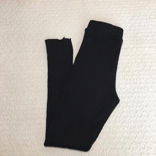 ジーユー(GU)のgu リブスリットレギンスパンツ  黒 (レギンス/スパッツ)