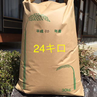 H30広島県産コシヒカリ100% 24キロ    精米無料(米/穀物)