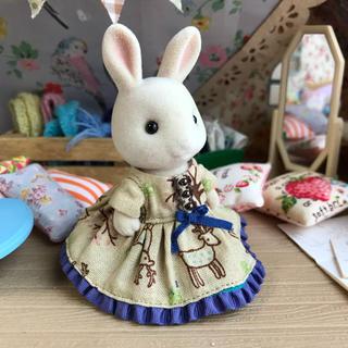 鹿のワンピース シルバニアファミリー女の子サイズ(ぬいぐるみ/人形)
