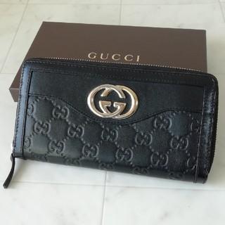 5d6e2eeea33d グッチ(Gucci)の【美品 正規品】グッチ ラウンドファスナー 長財布