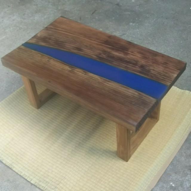 ウッドリバーテーブル ローテーブル インテリア/住まい/日用品の机/テーブル(ローテーブル)の商品写真