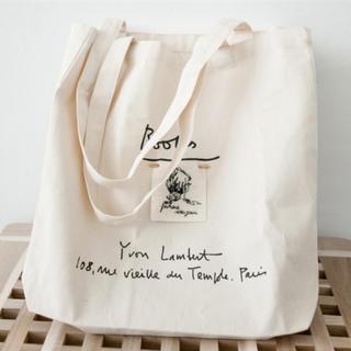 ザラ(ZARA)のvintage tote bag トートバッグ エコバッグ ホワイト(トートバッグ)