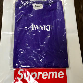アウェイク(AWAKE)の新品 Lサイズ AWAKE NY LOGO TEE Tシャツ 紫 アウェイク(Tシャツ/カットソー(半袖/袖なし))