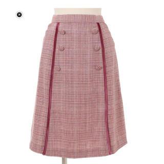 リズリサ(LIZ LISA)のスカラップチェックスカート(ひざ丈スカート)